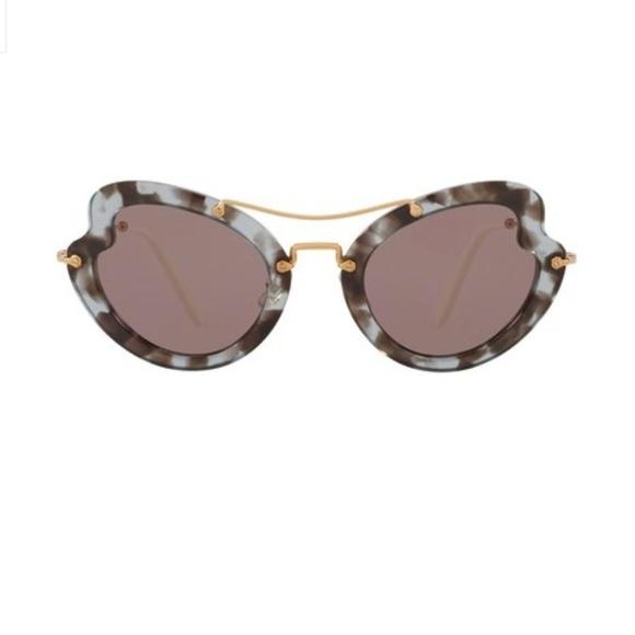 3f5b0b554a6 NWT MIU MIU Butterfly 52mm Acetate Sunglasses